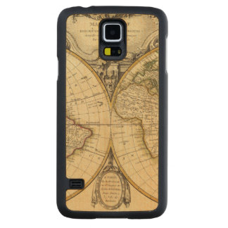 Double Hemisphere Carved Maple Galaxy S5 Case