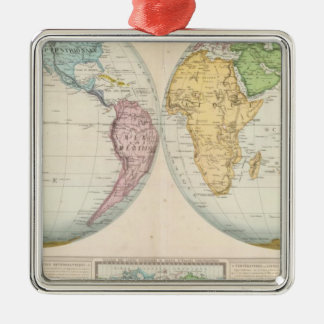 Double Hemisphere Map of the Climate Christmas Ornament