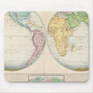 Double Hemisphere Map of the Climate Mouse Mat