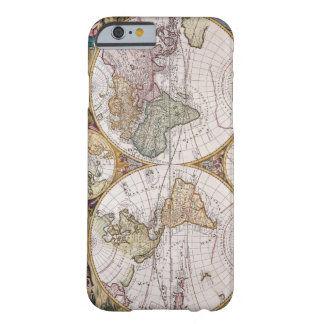Double Hemisphere Polar Map Barely There iPhone 6 Case