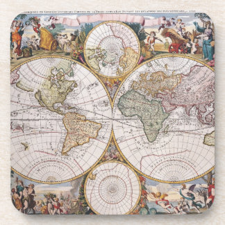 Double Hemisphere Polar Map Coaster