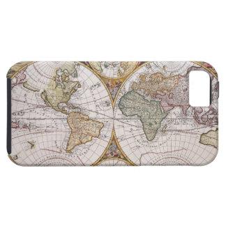 Double Hemisphere Polar Map iPhone 5 Case