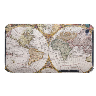 Double Hemisphere Polar Map iPod Touch Cases