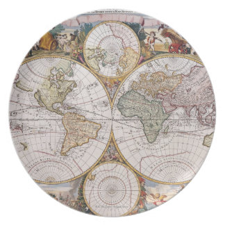 Double Hemisphere Polar Map Plate