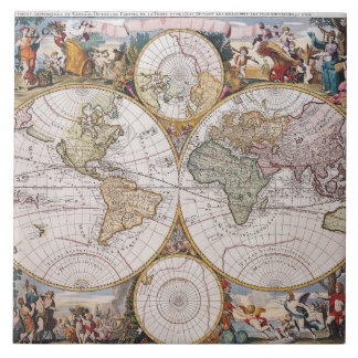 Double Hemisphere Polar Map Tile