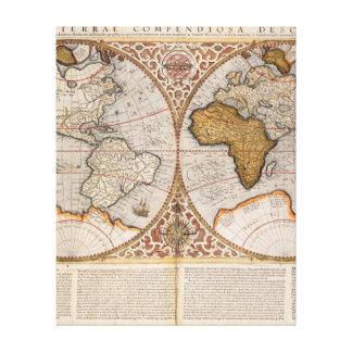 World map wrapped canvas prints zazzle double hemisphere world map 1587 canvas print gumiabroncs Images