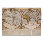 Double Hemisphere World Map, 1587 Cards