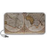 Double Hemisphere World Map, 1587 Laptop Speakers