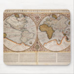 Double Hemisphere World Map, 1587 Mouse Pad