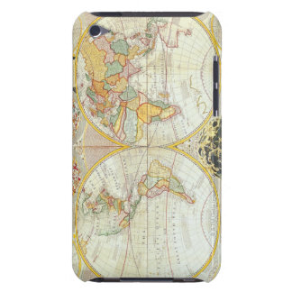 Double Hemisphere World Map Barely There iPod Cases