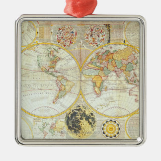 Double Hemisphere World Map Christmas Ornament