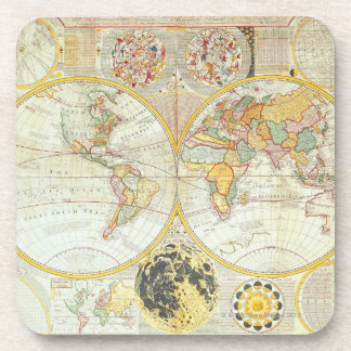Double Hemisphere World Map Coaster