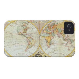 Double Hemisphere World Map iPhone 4 Case-Mate Case