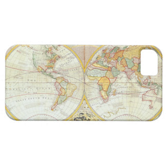 Double Hemisphere World Map iPhone 5 Covers