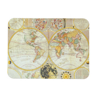 Double Hemisphere World Map Magnet