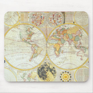 Double Hemisphere World Map Mouse Mat