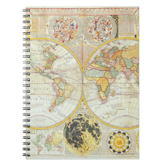 Double Hemisphere World Map Notebook