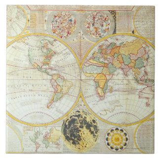 Double Hemisphere World Map Tile