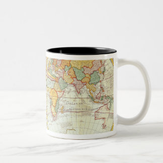 Double Hemisphere World Map Two-Tone Coffee Mug
