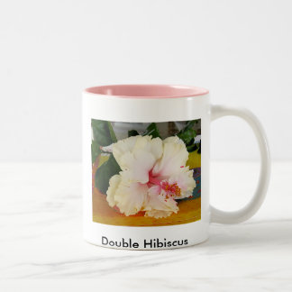 Double Hibiscus Two-Tone Coffee Mug