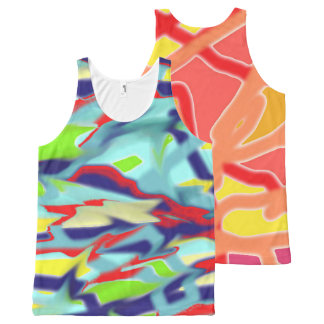 Double Horizontal Chaos into Form Unisex Tank Top All-Over Print Tank Top