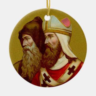 Double Image SS. Cyril & Methodius (M 001) Round Ceramic Decoration