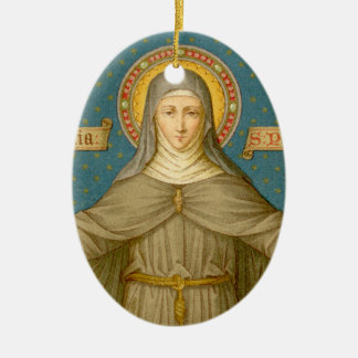 Double Image St. Clare of Assisi (SAU 027) Christmas Ornament