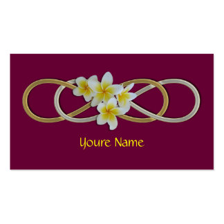 Double Infinity BiColor Frangipani Pack Of Standard Business Cards