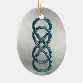 Double Infinity Cloisonne' Marbled Aqua2 -Ornament Christmas Ornament