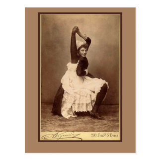 Double Jointed Circus Performer on Cards Postcard