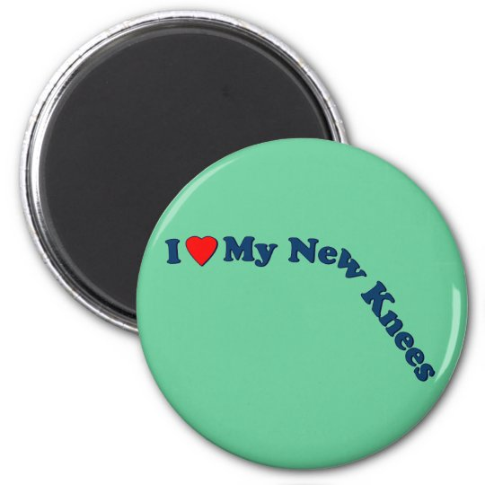 Double Knee Replacement Gifts | Get Well 6 Cm Round Magnet