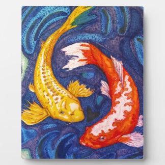 Double Koi Fish Photo Plaques