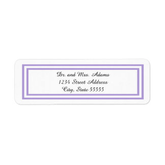 Double Lavender Trim - Address Label