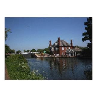 Double Locks Inn, Exeter, Devon, UK 13 Cm X 18 Cm Invitation Card