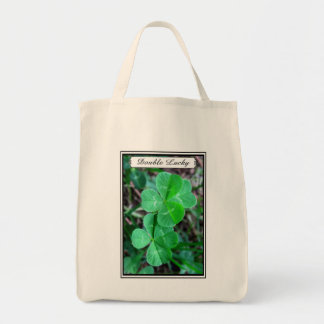 Double Lucky - Grocery Tote Grocery Tote Bag