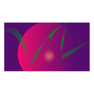 Double Moon Purple Night Abstract Art Pack Of Standard Business Cards