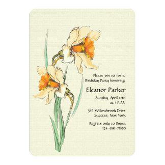 Double Narcissus Invitation