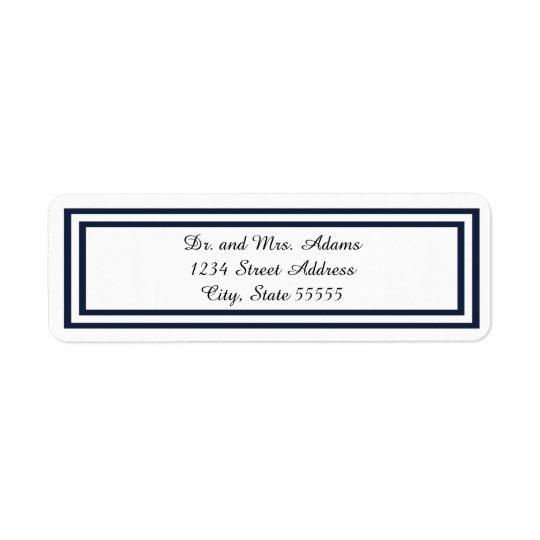 Double Navy Trim - Address Label