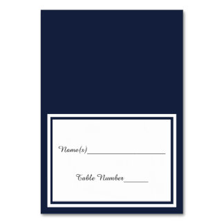 Double Navy Trim - Escort Card Table Cards