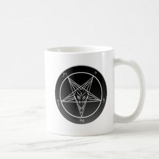 Double Noir Sigil of Baphomet Classic White Mug