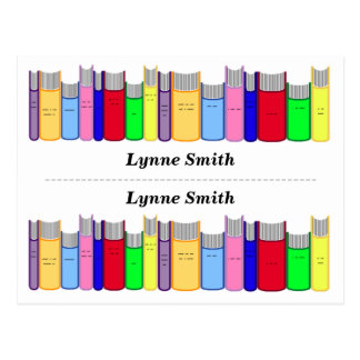Double Personalized bookmarks Postcard