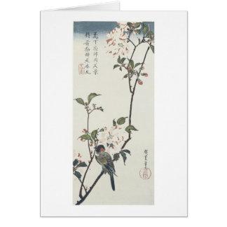 Double Petaled Cherry Blossom, Hiroshige, 1830 Card