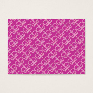 Double Pink Crowns Business Card