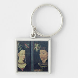 Double portrait of Charles le Temeraire  Duke Key Ring