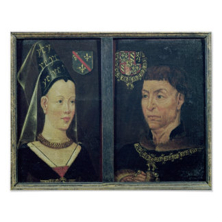 Double portrait of Charles le Temeraire  Duke Poster