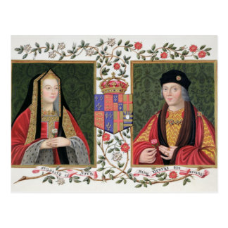 Double portrait of Elizabeth of York (1465-1503) a Postcard