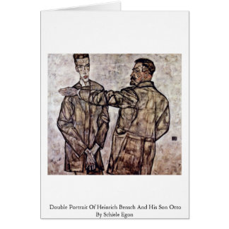 Double Portrait Of Heinrich Bensch And His Son Greeting Card