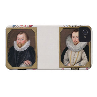 Double portrait of Sir Francis Drake (c.1540-96) a Case-Mate iPhone 4 Cases