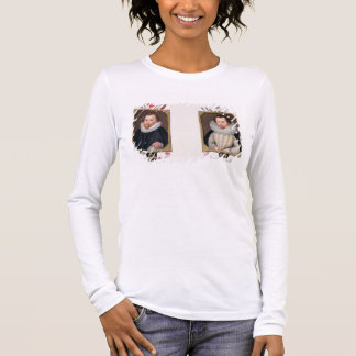 Double portrait of Sir Francis Drake (c.1540-96) a Long Sleeve T-Shirt