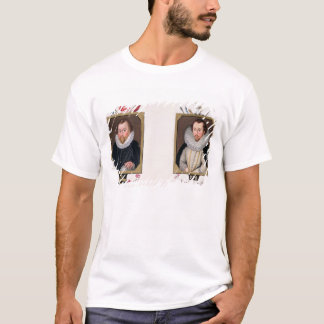 Double portrait of Sir Francis Drake (c.1540-96) a T-Shirt